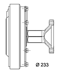 Сцепление виско DAF 75CF75 -13r Fi 233 Behr