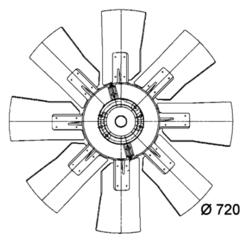 Сцепление виско DAF 95ATI к-т Fi 720