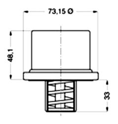 Термостат 80C Fi73 DAF75-95 -98r Wahler