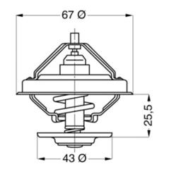 Термостат 75C Fi67 DAF,IV.,SC. Wahler