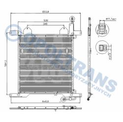 Радиатор кондиционер. DAF 95XF 97-02r Highway