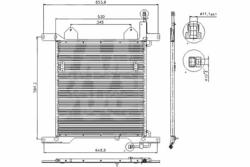 Радиатор кондиционер. DAF 95XF 97-02r Nissens