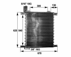 Радиатор кондиционер. DAF 95XF 97-02r Behr