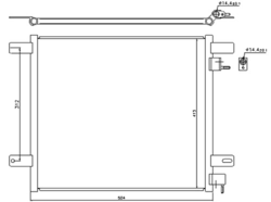 Радиатор кондиционер. DAF LF45/55 01-17r- Nissens