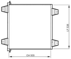 Радиатор кондиционер. DAF XF95/105 -05r- Valeo