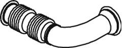 Труба випуск.DAF LF55 средн. 06r- Dinex
