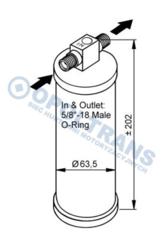 Вологовідділювач кондиціонерDAF XF95/105,CF75/85 01-13r NRF