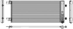 Радиатор кондиционер. MAN TGS-X 07r- Behr