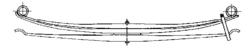 Рессора DAF 2x75/870x870 зад. LF45 01r-