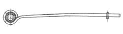 Рессора DAF 1x75/585x75 зад. LF45 -16r- під подушк.