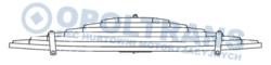 Рессора DAF 7x90/780x780 XF106/CF Euro6 13r- /T/