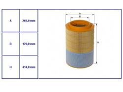 Вставка фильтр.воздушн.DAF CF65/75 -13r,CF E6 13r- Hengst