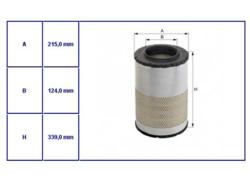 Вставка фильтр.воздушн.DAF LF45/55 01-08r Hengst