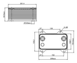 Радиатор масла DAF CF85 -13r,XF95 02-06r Nissens