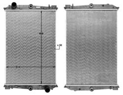 Радиатор води DAF 85 ATI 92-98r не к-кт. Highway=