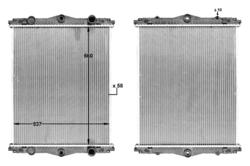 Радиатор води DAF LF55 220KM 01-13r- не к-кт.