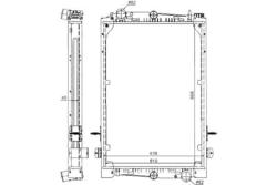 Радиатор води DAF 85 ATI 92-98r к-т Nissens=