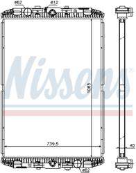 Радиатор води DAF XF95XF 97-06r не к-кт. Nissens