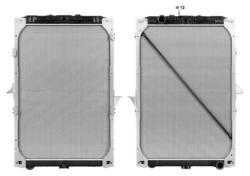 Радиатор води DAF XF105 05r-12r- к-т Highway=