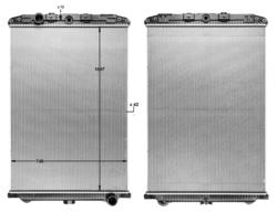 Радиатор води DAF XF105 05-12r- не к-кт. Highway