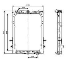 Радиатор води DAF CF 92-02r к-т