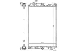 Радиатор води DAF 85 ATI 92-98r не к-кт.
