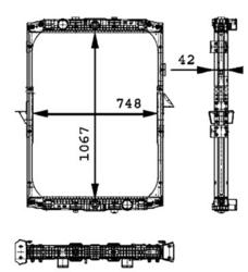 Радиатор води DAF XF95XF 97-06r к-т Behr