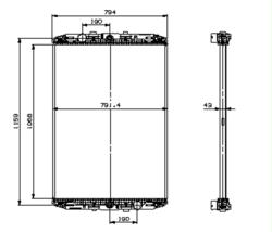 Радиатор води DAF XF95XF 97-06r не к-кт.