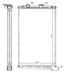 Радиатор води DAF CF85 01-13r не к-кт.