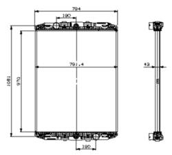 Радиатор води DAF F95 ATI-92r niska к-кт.