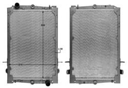 Радиатор води DAF 85 ATI 92-98r к-т